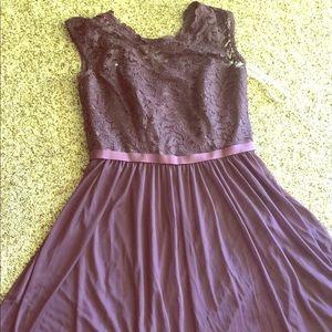 David's bridal size 8 purple dress